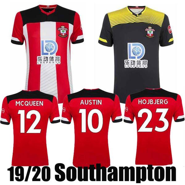 2020 The Saints Home Red Soccer Jerseys 19/20 #16 WARD-PROWSE #7 LONG Football Shirts 2019 #22 REDMOND Soccer Uniforms Sales