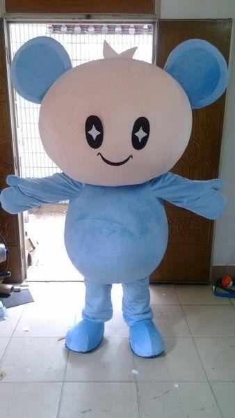 mascot blue big head doll mascots costumes Dress
