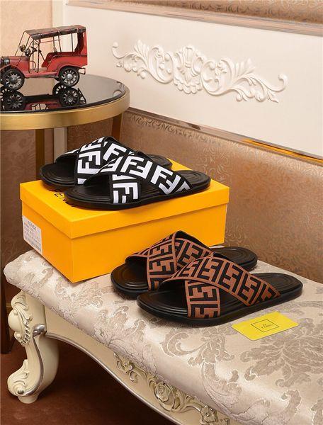 New Luxurious Designer Brand Fend FD Flip Flops Slippers Casual Shoes Men and Women Slippers Hip Hop Street Sandals Outdoor Shoes