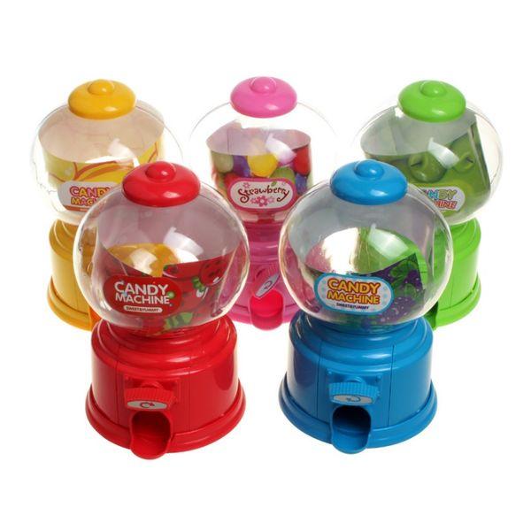 Plástico Mini Pequeña Máquina de Caramelos Bubble Gumball Dispensador Moneda Banco Niños Juguete Para Gumballs Cacahuetes Pequeño Caramelo Y Snacks W8890