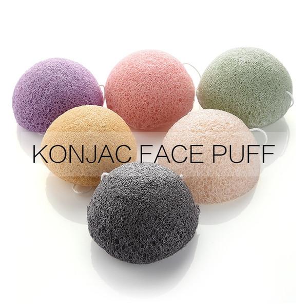 top popular Konjac Facial Puff Face Cleanse Washing Sponge Konjac Exfoliator Cleansing Sponge Facial Care Makeup Tools HHA302 2021