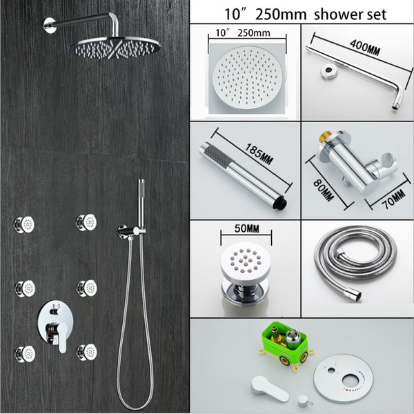 "10"" shower head set"