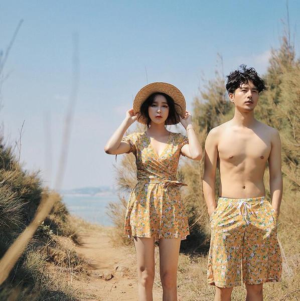 Costumi da bagno donna 2019 Costumi da bagno coreani Nuovi arrivi Set da bikini Coppia Costumi da bagno Tre pezzi Donna Vita alta Donna