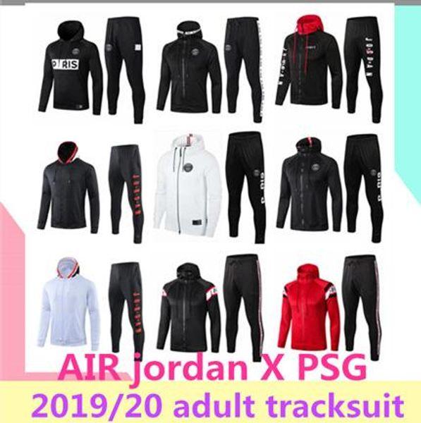 2019/20 AIR Jordan X PSG felpa con cappuccio giacca Champions League Survetement 2019 2020 AIR Jordan PSG MBAPPE giacche da calcio POGBA calcio HOODI