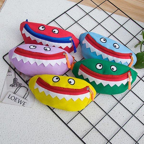 Children Small Waist Bags Pack Monster Mini Pockets For Baby Boy Girl Kids Coin Chest Purse Cute Wild Messenger Bag Packs Pouch
