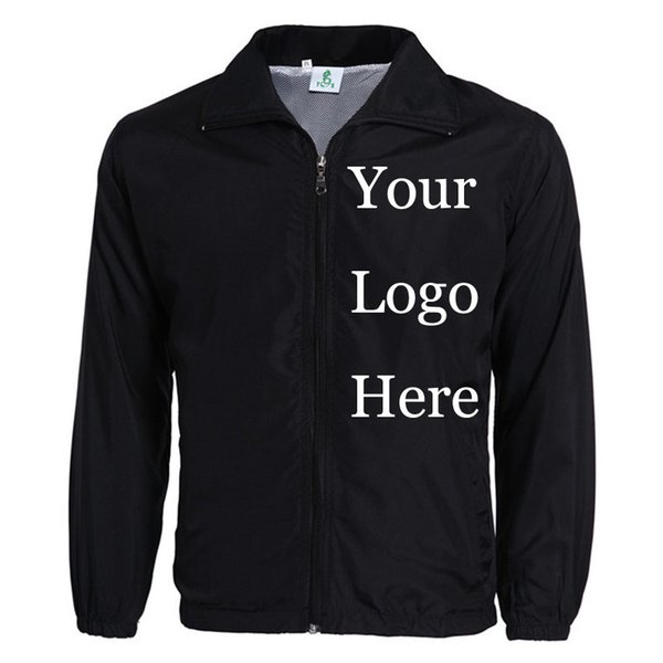 custom jacket windbreaker diy printing embroidery logo design ps thin wind proof coat jackets advertisement drop shipper - from $23.09