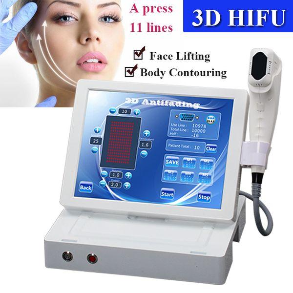 Focalisés de haute intensité ultrasons HIFU ultrasons anti vieillissement rides Removal visage Soins de la peau Machine de beauté CE Approuvé par la FDA
