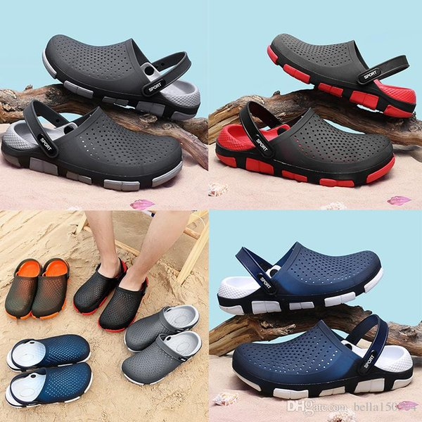 free shipping designer sandals Jelly beach shoes men Sandals Casual Shoes Slippers Beach flip-flops Outdoor Slippers Light Weight Sandals