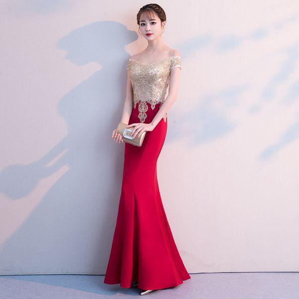 2019 New Party Cheongsam Oriental Womens Wedding Qipao Dress Fashion Chinese Style Elegant Long Robe Clothes Vestido S-XXL