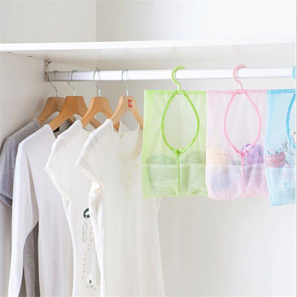 Mesh Crib Bedding Set Baby Clothes Storage Laundry Cosmetic Bag Organizer Hot Sale Multifunctional Hanging Storage Suction Bag