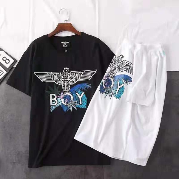 2019 New Fashion Marcelo Burlon T-Shirt Uomo Milan Feather Wings T Shirt Uomo Donna Coppia Sfilata di moda T Shirt Goros Camisetas