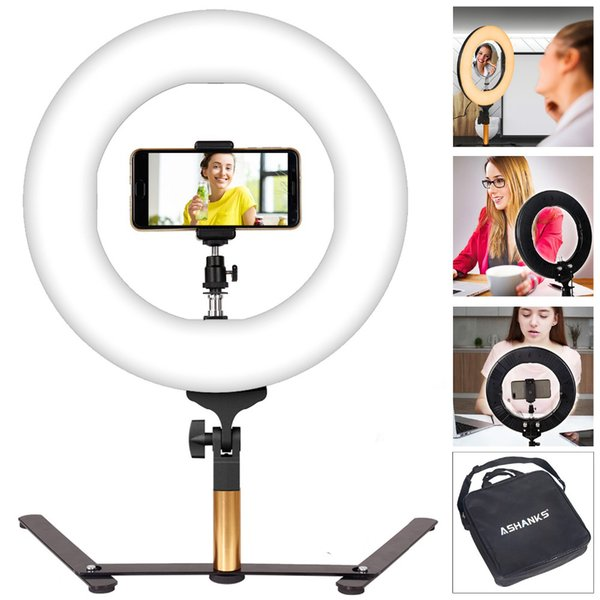 amp photography LED Ring Light with Stand Selfie Makeup Lights 40W Photography Lamp Bulbs for Camera Photo Studio Phone Video YouTube Vlo...