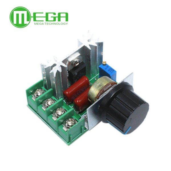 Freeshipping 10PCS 2000W SCR Voltage Regulator Dimming Dimmers Speed Controller Thermostat AC 220V