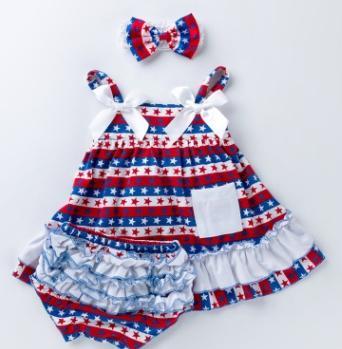 Conjuntos da roupa da criança do suspender # 1