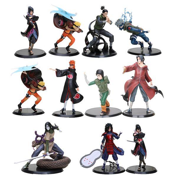 2pcs/set 18cm anime Naruto action figure Uchiha Madara Sasuke pvc action figure toys Naruto figure christmas children gift