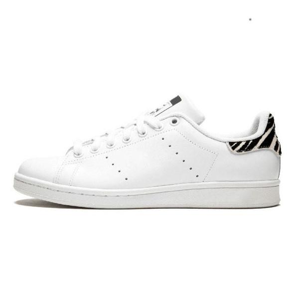 2019 Diseñador Stan Smith zapatos de la marca de cuero de los hombres clásicos zapatos de los planos casuales de alta calidad corrientes de las mujeres deportivas zapatillas de deporte 36-46