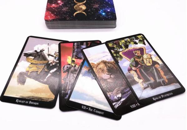 와일드 알 수없는 타로 카드 신비한 동물 토템 타로 카드 안내 보드 게임 타로 갑판 보드 게임 카드 78Pcs / 세트