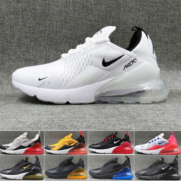 Compre Nike Air Max 270 270s 27c Airmax OFF 3M Chameleon Triple Blanco Negro Dorado BeTure Flowers Zapatillas De Deporte Para Hombre Malla De Aire