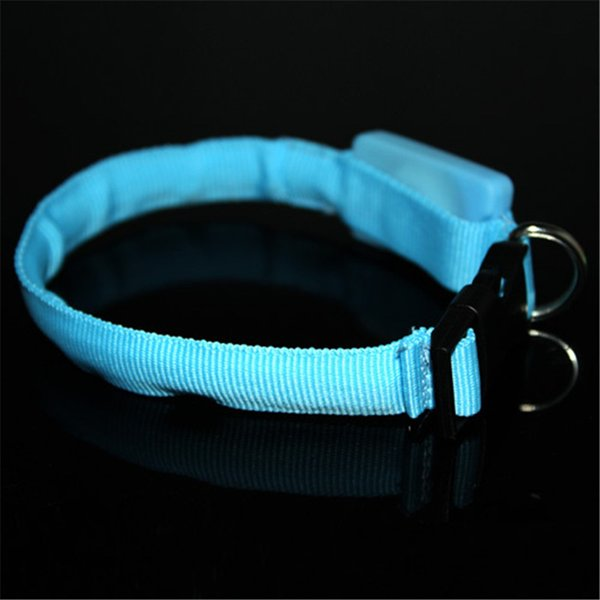 Small Scale Safety 18-28cm Pet Dog Collar LED Nylon Light-up Flashing Leash Glow for Dogs