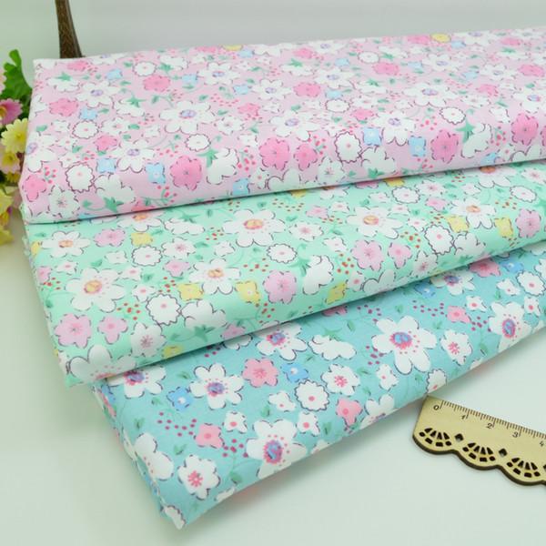 100 * 160 centímetros Flores tecido de algodão retalhos de tecido pano Handmade DIY estofar costura BabyChildren Sheets vestido lenço