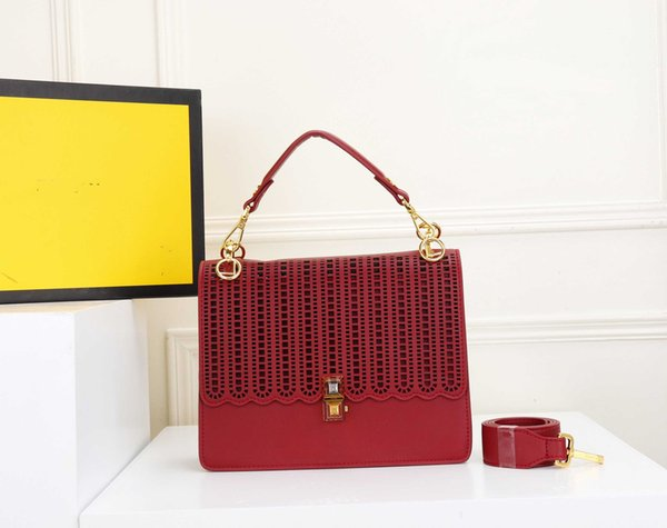 New hollow handbag M1983-25 high quality leather bag brand designer handbag fashion shoulder handbag trend wild models