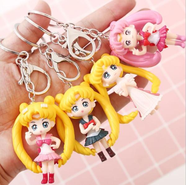 Girls Gifts Japan Anime Action Figure Girl Doll Toys Pendant Mini Sailor Moon Keychain Sailor Moon cosplay