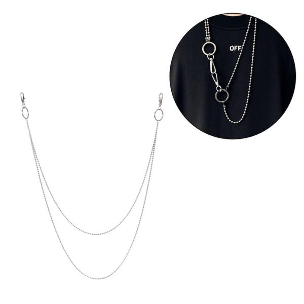 I monili Chain degli uomini di modo catena in acciaio inox collana del branello caldo di vendita della collana della lega d'acciaio Nuovo