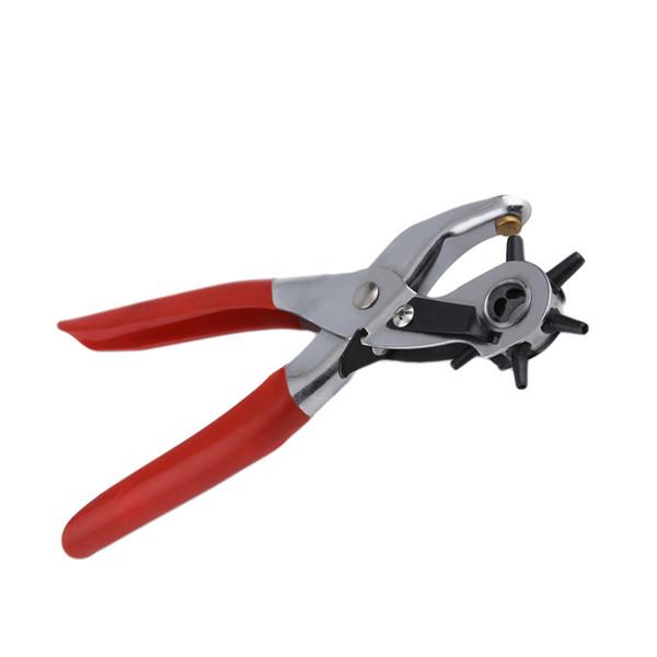 Großhandel Leder Gürtel Locher Revolving Stanzzange Werkzeug für Strap Papier Armband mit 5 Loch Größe Gadgets Home Decor