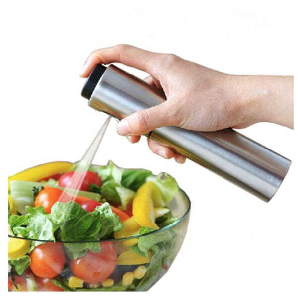Edelstahl Spray Flaschen Nachfüllbare Öl Essig Nebel Sprühflasche Wasserpumpe Sauce Boote Grill BBQ Sprayer Küchenwerkzeuge B