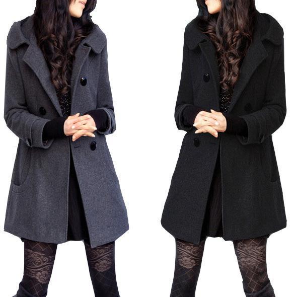 Casaco Feminino Manteau D'hiver Femme Manteaux Casacos Trench Coat Veste 5XL 6XL Sobretudo Preto Pour Womenn Cachemire Laine Veste