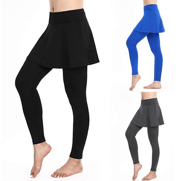 2019 kadın Rahat Etek Tayt Tenis Pantolon Spor Spor Culottes dikişsiz tozluk depo gym comperssion erings