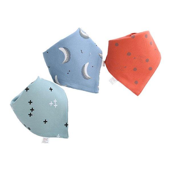 3Pcs Soft Infant Baby Handkerchief  Saliva Towel Bib Scarf Feeding Pinafore Cute