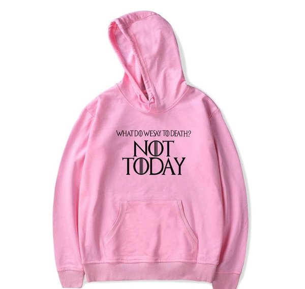 Ayra Stark Not Today Hoodies for Men House Stark The Song of Ice and Fire Winter Is Coming Men s Sportswear Game of Thrones Sweatshirt