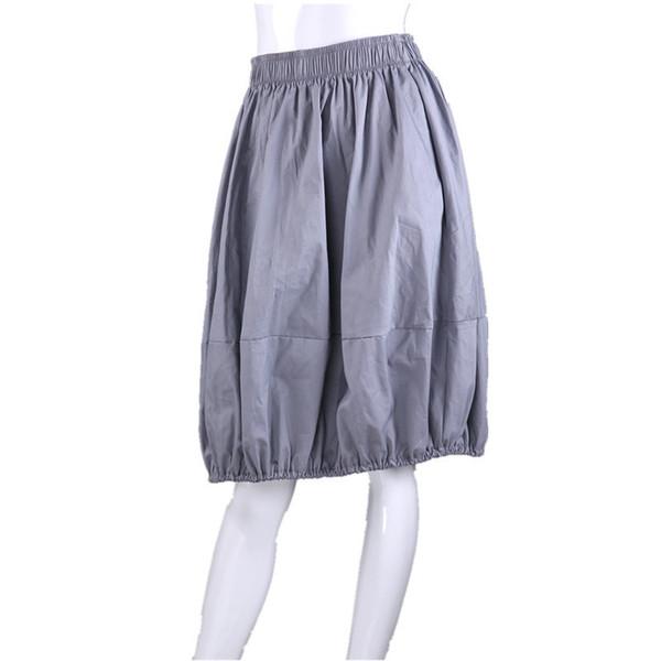 2018 Fashion Summer Cotton Large Style Women Teenagers Knee Length Skirt 63cm Long J190619