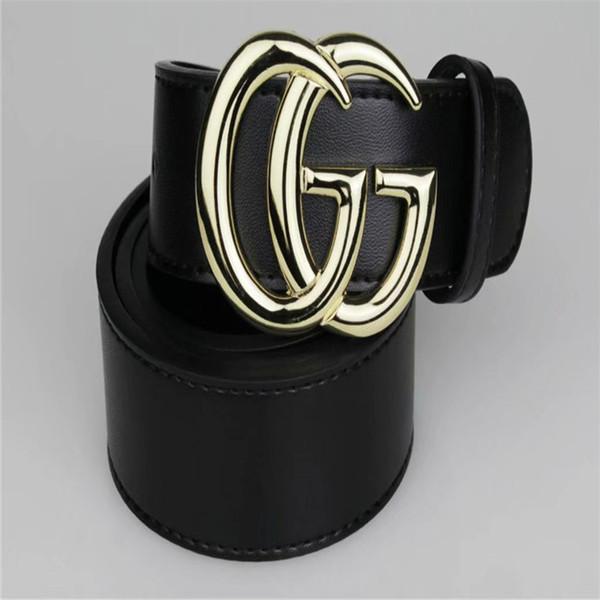 2019 hombres de la marca cinturones de cuero con caja mujer Cinturones hebilla grande 20 colores eligen Cinturones de cuero genuino para el envío libre