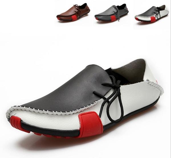 Morbida pelle da uomo per uomo Casual scarpa parte regalo Scarpe basse fibbia in metallo Slip-on man lazy falts Mocassini Zapatos Hombre 38-46