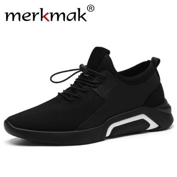 merkmak Brand 2019 New Breathable Comfortable Mesh Men Shoes Casual Lightweight Walking Male Sneakers Fashion Lace Up