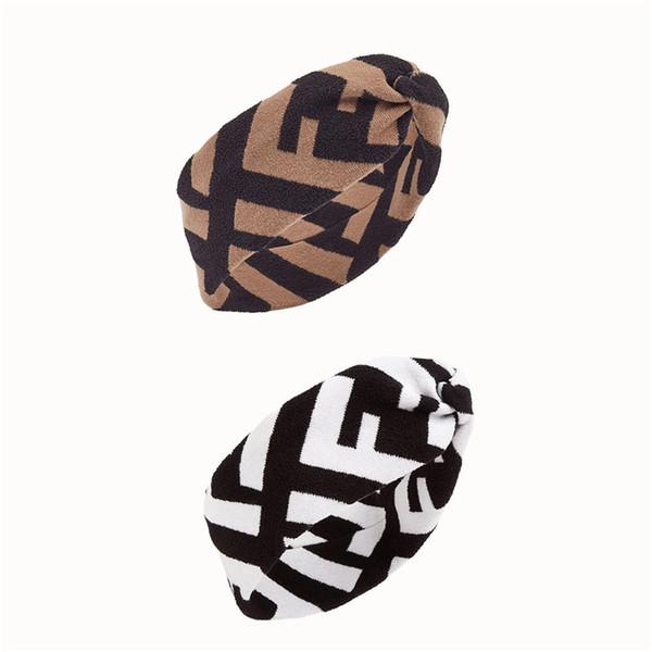 Hot F style Femmes Hiver Chaud Laine Cross Bandeau Mode Fille Élastique Mélangé Deux Matériaux Rétro Turban Headwraps Cadeaux Haut