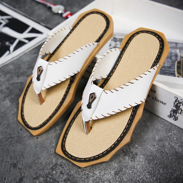 Mens Sandals Flip Flops Summer Fashion Vacation Flat Flip Flops Men Beach Water Walking Slippers Light Weight Mens Slides Beach