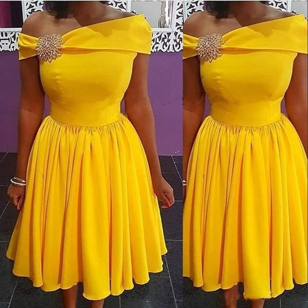 Homecoming Dresses 2019 Yellow One