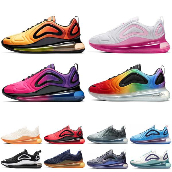 Nike air max 720 Кроссовки Женщины Тренер Багровый Золотой Пасхальный Пакет Be True Black Red Мужчины Пасхальный Пакет Спортивные Дизайнерские туфли