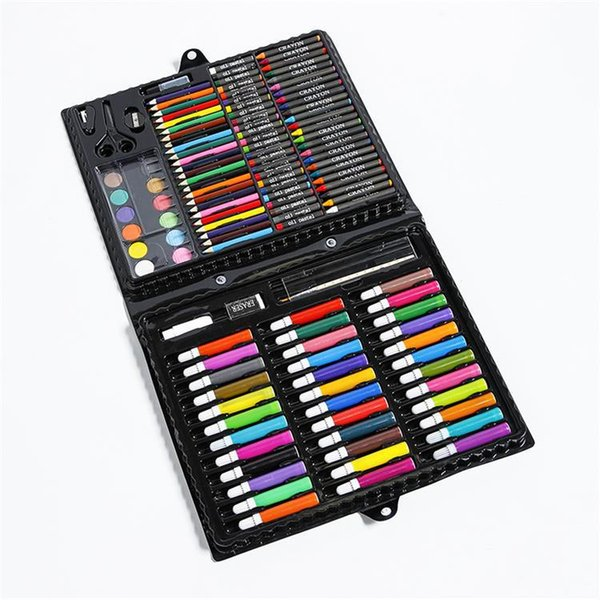 168pcs Watercolors painting Art Tools gouachebrush Suit Children Gift set items children brush Watercolors Pencils stationery set