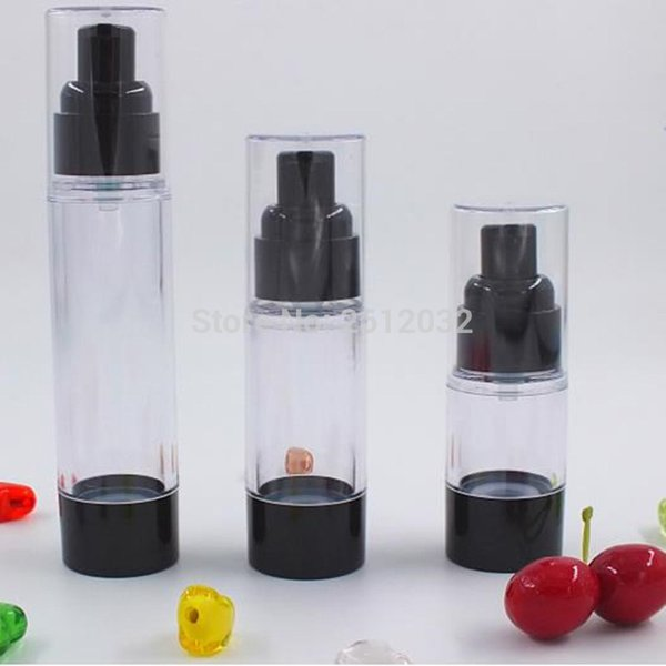 Black Airless Bottle Emulsion Lotion Pump Bottle Portable Airless Bottle for Cream Foundation 15ml 30ml 50ml F20173732