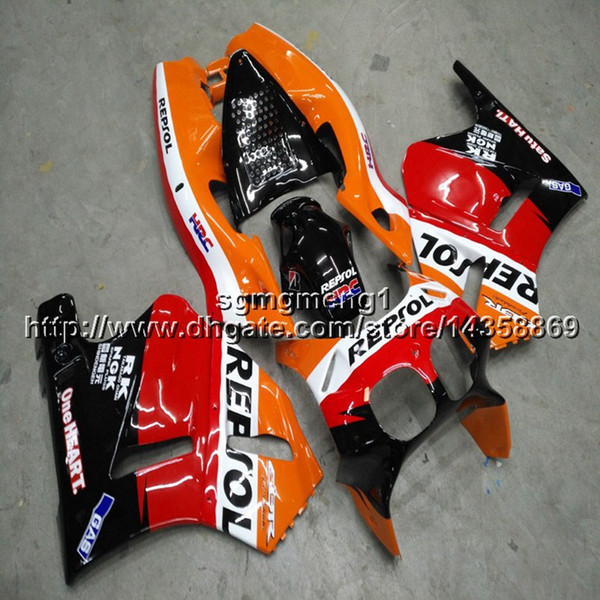 23colors+Screws repsol orange motorcycle article for HONDA VFR400R NC30 89-93 V4 1989 1990 1991 1992 1993 ABS motor Fairings