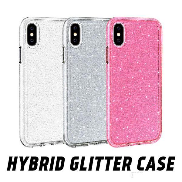 Luxo premium de qualidade glitter bling casos de telefone para o iphone 6 7 8 além de cobertura completa capa protetora para iphone x xr xs max