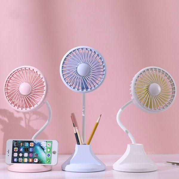 2019 Dritter Gang Tragbarer Mini Fan Natürlicher Wind Handheld Elektrischer USB Fan Flexible Luftkühlung für Home Office Outdoor DC 5 v
