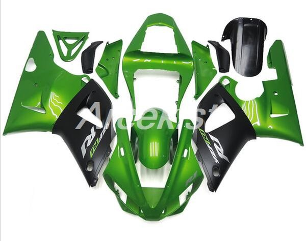 New ABS Mold motorcycle Fairings Kits Fit For YAMAHA YZF-R1-1000 2000-2001 00 01 High quality Fairing bodywork set cusotm green black