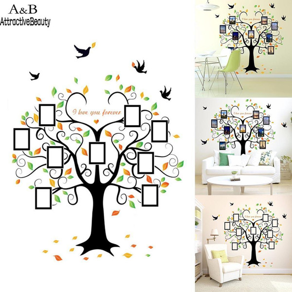 New Modern Bedroom Living Room Wall Decoration Background PVC Wall Stickers Tree Bedroom,