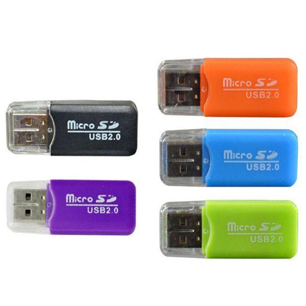 Lector de tarjetas de memoria para teléfonos móviles al por mayor dedicado Lector de tarjetas TF Pequeño lector de tarjetas USB S - D de alta velocidad multiuso