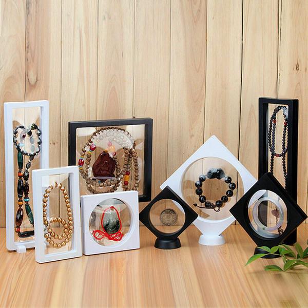 20pcs al por mayor 3D flotante marco Shadow Box Picture Frame exhibición de la joyería